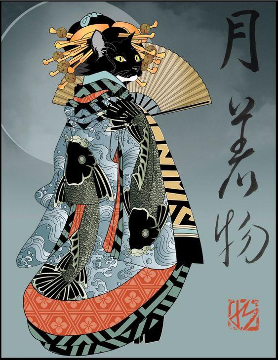 Per le strade di Tokio di Nick Bradley_Gatto Samurai
